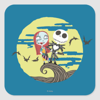 Jack and Sally Moon Square Sticker