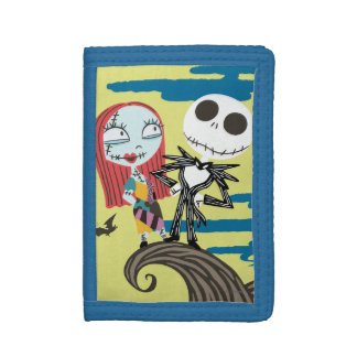 Jack and Sally Moon Tri-fold Wallet