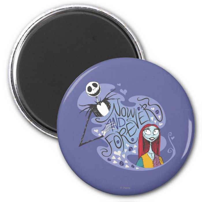 Jack and Sally - Now and Forever 2 Inch Round Magnet