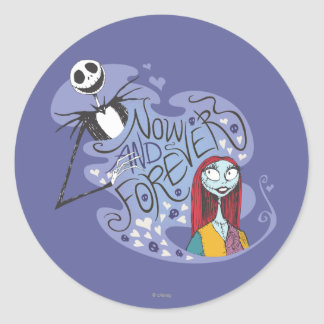 Jack and Sally - Now and Forever Round Sticker