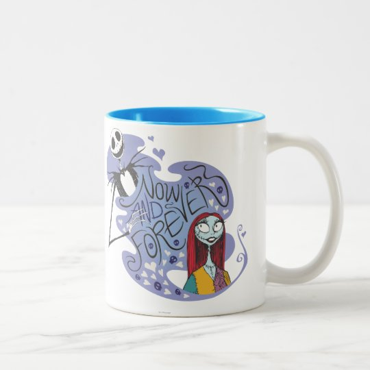 Jack and Sally - Now and Forever Two-Tone Coffee Mug