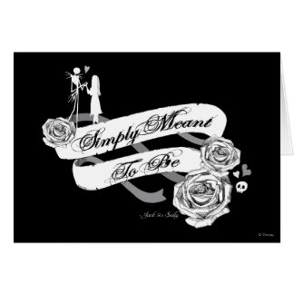 Jack and Sally - Simply Meant To Be Card