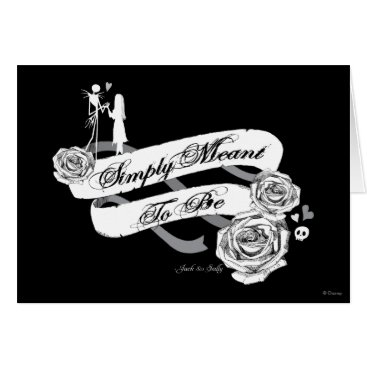 Disney Themed Jack and Sally - Simply Meant To Be Card