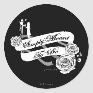 Jack and Sally - Simply Meant To Be Classic Round Sticker