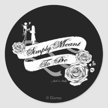 Disney Themed Jack and Sally - Simply Meant To Be Classic Round Sticker
