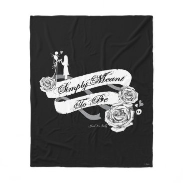 Disney Themed Jack and Sally - Simply Meant To Be Fleece Blanket