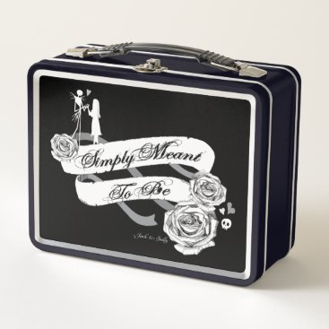 Halloween Themed Jack and Sally - Simply Meant To Be Metal Lunch Box