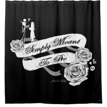Disney Themed Jack and Sally - Simply Meant To Be Shower Curtain