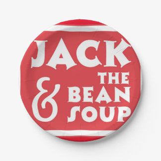 Jack and the Bean Soup Paper Plate