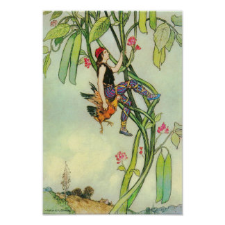 Jack and the Beanstalk by Warwick Goble Poster