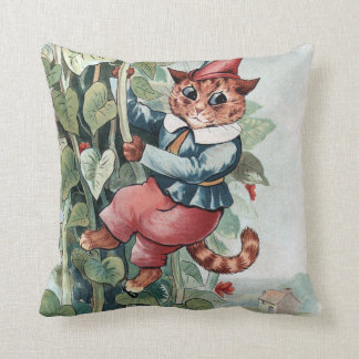Jack and the Beanstalk, Louis Wain Throw Pillow