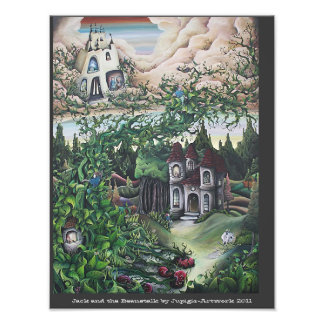 Jack and the Beanstalk painting Photo Print