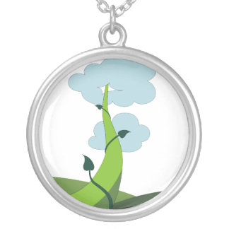 Jack and the Beanstalk Round Pendant Necklace