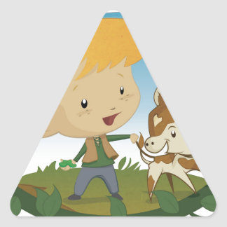 Jack and the Beanstalk Triangle Sticker
