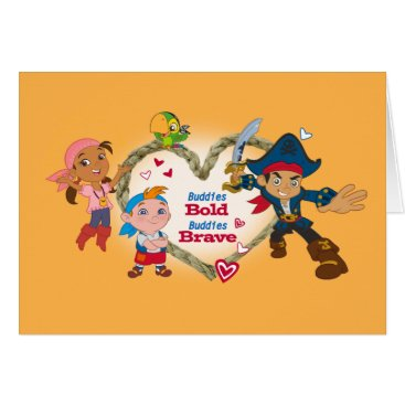 Disney Themed Jack and the Neverland Pirates Valentine Card