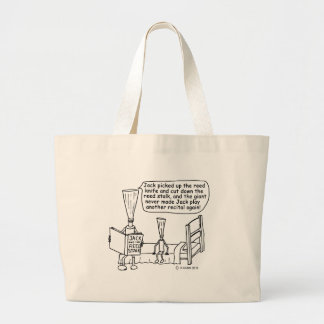 Jack and the Reed Stalk Large Tote Bag