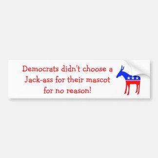 Jack-ass mascot bumper stickers