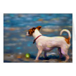Jack at the Beach - Jack Russell Terrier Art Greeting Card
