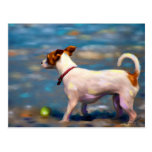 Jack at the Beach - Jack Russell Terrier Art Postcard