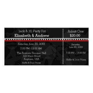 Jack blanco y rojo negro y boletos de la ducha de lona personalizada