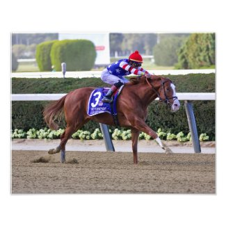 Jack Christopher Winning the Champagne Stakes Photo Print