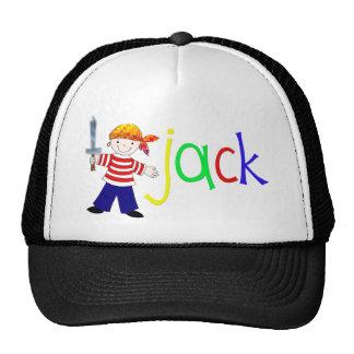Jack con el ejemplo del pirata gorras