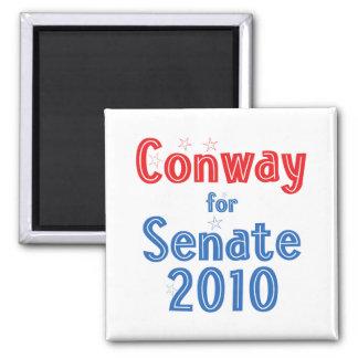 Jack Conway for Senate 2010 Star Design 2 Inch Square Magnet