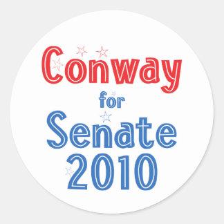 Jack Conway for Senate 2010 Star Design Classic Round Sticker