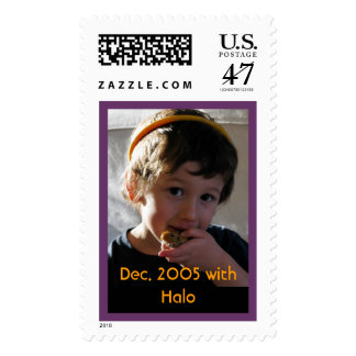 Jack, Dec. 2005 with Halo Postage