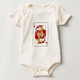 Jack del naipe de los corazones body para bebé
