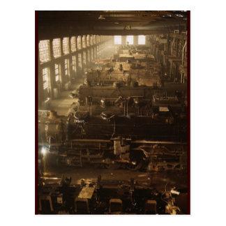 Jack Delano Locomotive Workshop Postcard