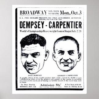 Jack Dempsey 1921 vintage movie ad poster