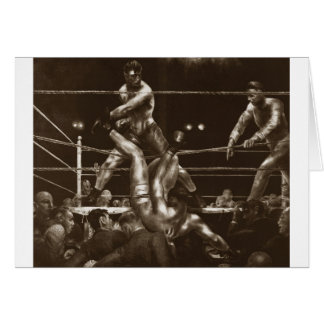 Jack Dempsey and Luis Firpo by George Bellows Card