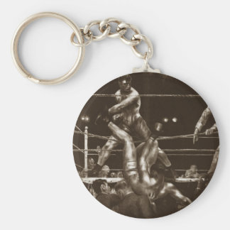 Jack Dempsey and Luis Firpo by George Bellows Keychain