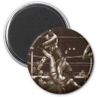 Jack Dempsey and Luis Firpo by George Bellows 2 Inch Round Magnet
