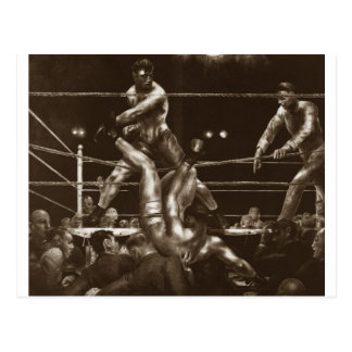 Jack Dempsey and Luis Firpo by George Bellows Postcard