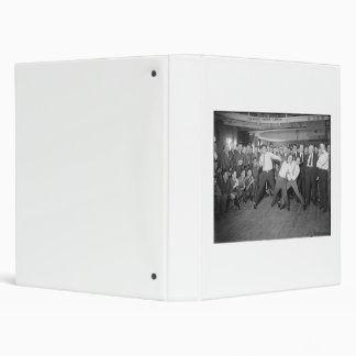 Jack Dempsey Mock Fighting Against Harry Houdini 3 Ring Binder