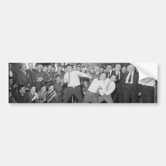 Jack Dempsey Mock Fighting Against Harry Houdini Car Bumper Sticker