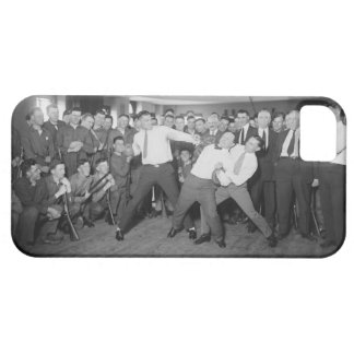 Jack Dempsey Mock Fighting Against Harry Houdini iPhone 5 Covers