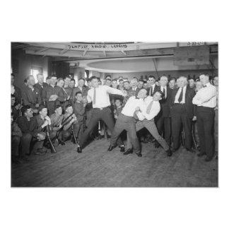 Jack Dempsey Mock Fighting Against Harry Houdini Custom Announcement