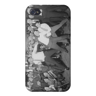 Jack Dempsey Mock Fighting Against Harry Houdini iPhone 4 Cover