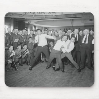 Jack Dempsey Mock Fighting Against Harry Houdini Mouse Pad