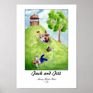 Jack e impresión de Jill - modificada para requisi Póster
