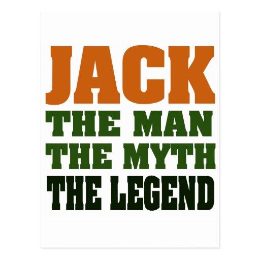 ¡Jack - el hombre, el mito, la leyenda! Postal