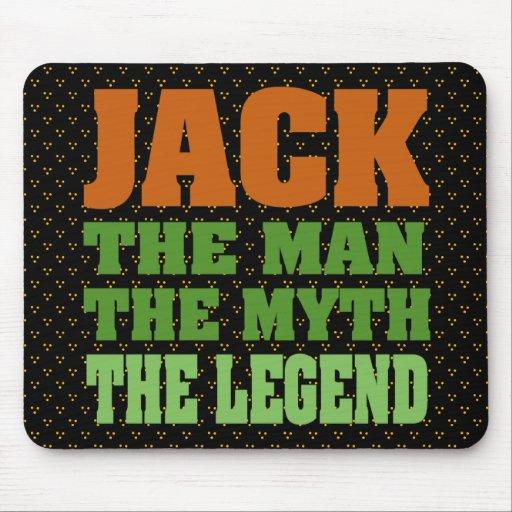 Jack, el hombre, el mito, la leyenda alfombrilla de ratón
