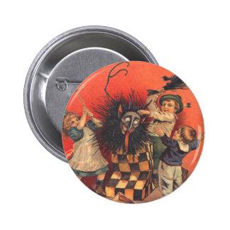 Jack-En-UNO-Box de Krampus Pin Redondo De 2 Pulgadas