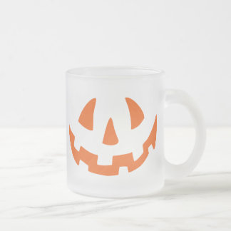 Jack Face Frosted Glass Coffee Mug
