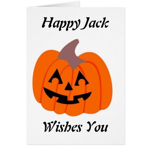 Jack feliz - tarjeta de felicitación de Halloween