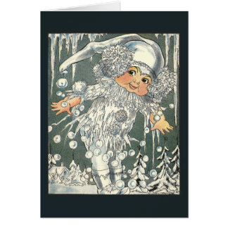 Jack Frost and Icy Windowpane Card
