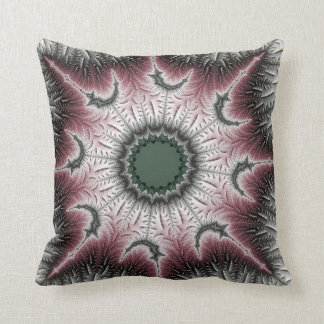 Jack Frost - Maroon Throw Pillow